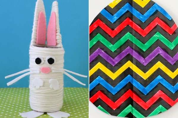 super cute bunny craft and easter egg craft for easter, spring, or april