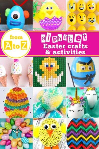 Over 100 amazing EASTER Crafts and activities for kids during April. Includes tons of bunny, egg, basket, chick, and other activities for toddler, preschool, kindergarten, and first graders #eastercrafts #easteractivities