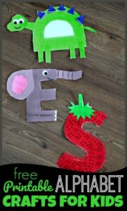 free printable letter crafts to learn uppercase letters