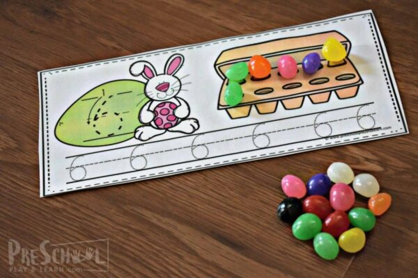 count trace and write with jelly beans with this easter math activity for prek and kindergarten