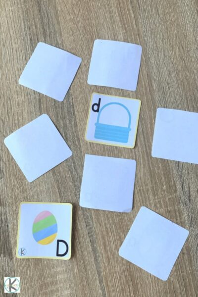 play kindergarten letter matching game on your own or with a friend