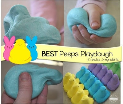 Peeps recipe to make easter playdough that is edible
