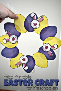 printable easter wreath craft