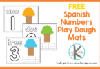 fun, hands on activity for teaching spanish for kindergarten using playdoug mats. Count to 10 in spanish