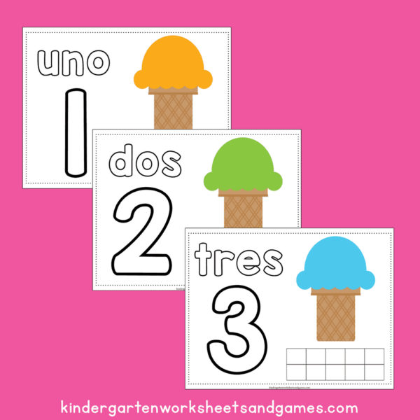 use play doh to teach spanish for preschoolers with these numbers in spanish printable