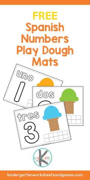 FREE Spanish Numbers for Kids Playdough Mats - Spanish Numbers for Kids Playdough Mats #spanishforkids #spanisprintables #preschool #kindergarten #homeschool