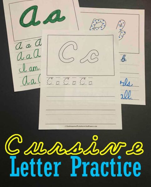 FREE Cursive Writing Practice Sheets A-Z