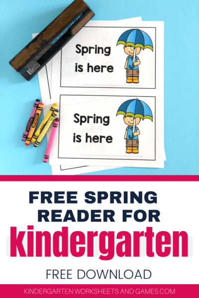 FREE Spring Emergent Reader Books - help kindergarten, pre k, and first graders practice sight words, improve fluency, and become more confident reading with these free printable early readers.