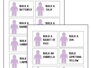 FREE Printable Lego Challenge Cards - this no prep STEM activity is a great way to keep kids engaged, thinking creatively, and playing this this spring for kindergarten, 1st grade, 2nd grade, 3rd grade, 4th grade, 5th grade, and 6th grade students. Perfect for parents, teachers, and homeschoolers.