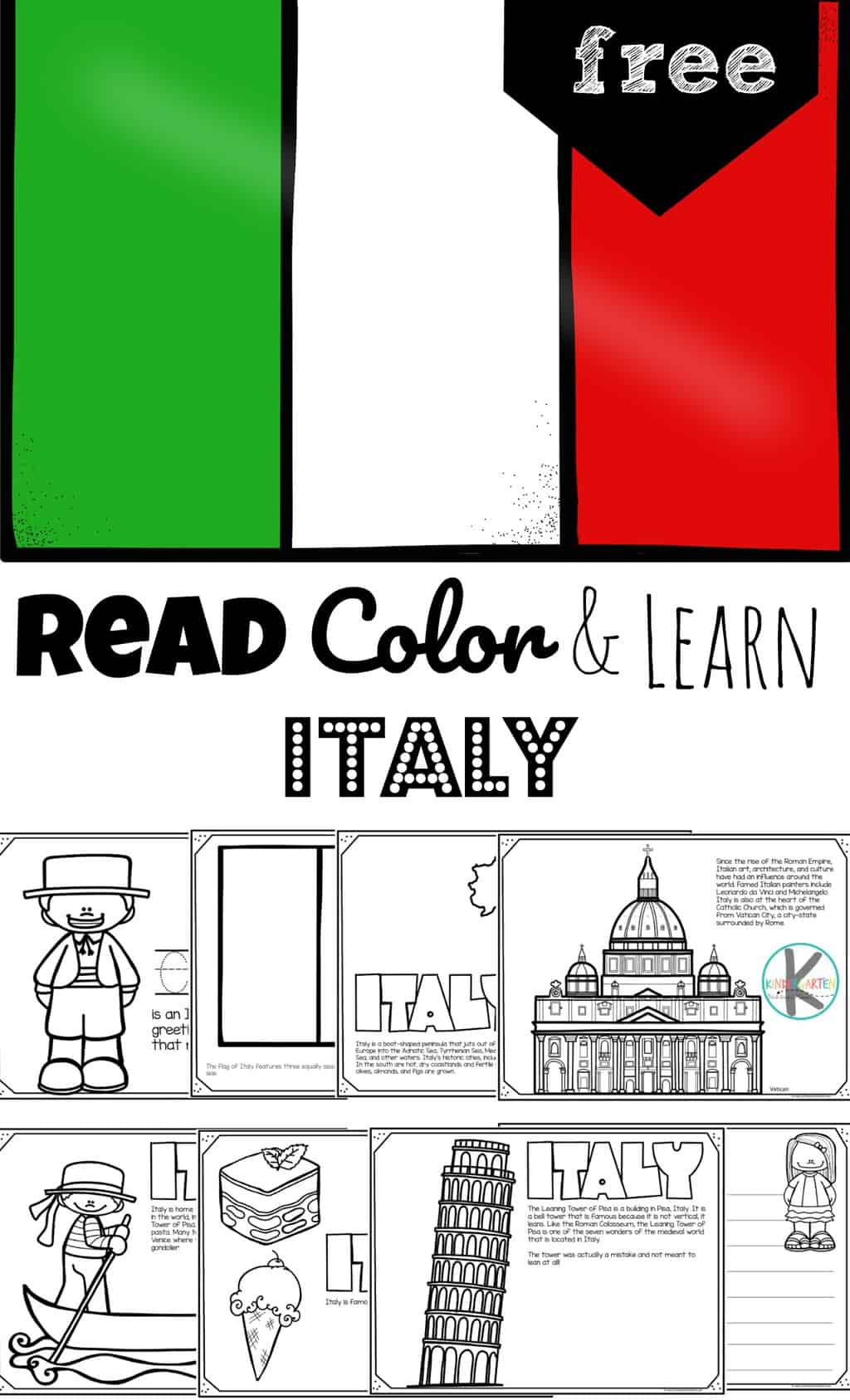 Free Italy Coloring Pages Read Color Learn