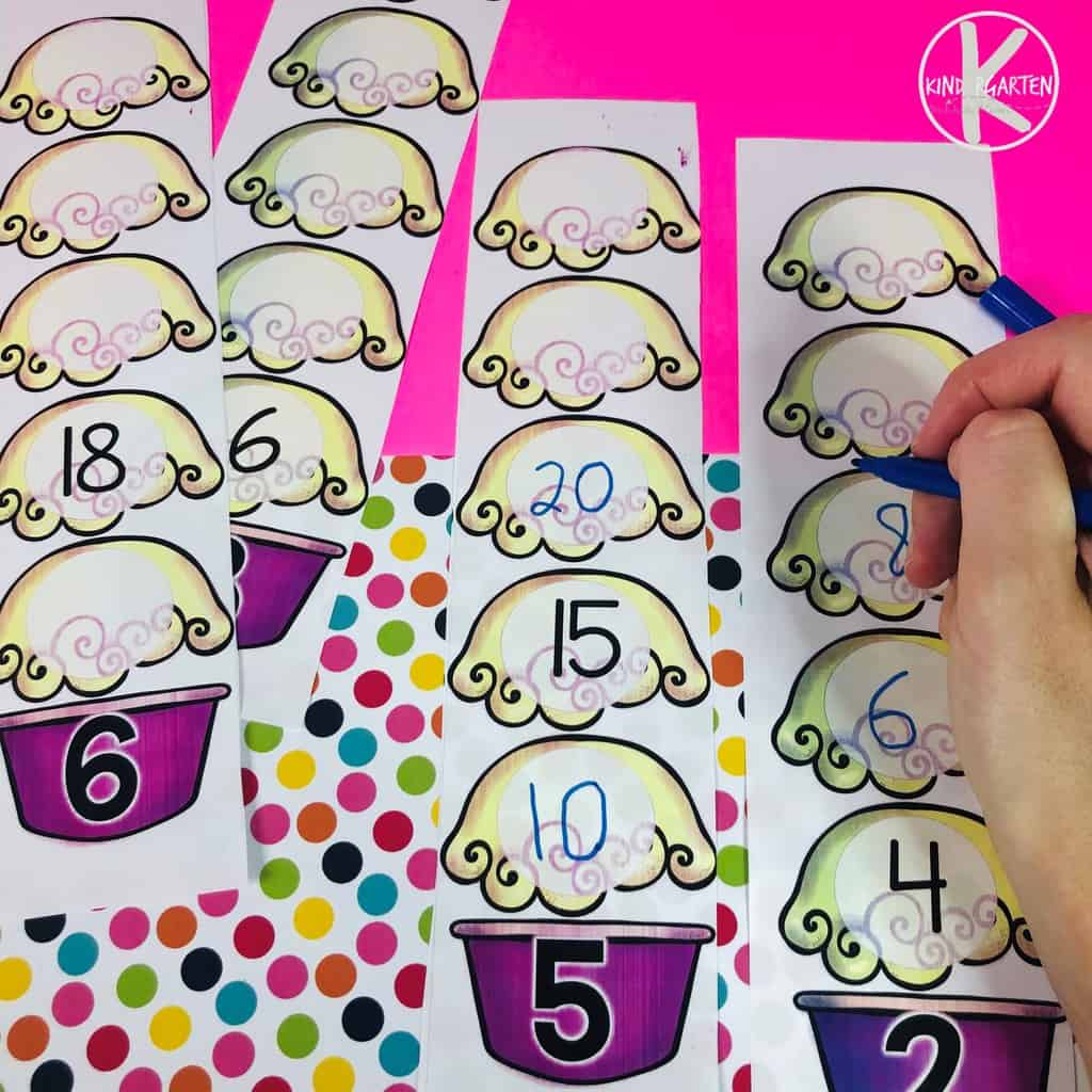 Teaching Skip Counting with a summer math activity for kindergarten, grade 1, and grade 2 children