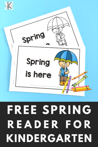 What is An Emergent Reader - find out what it is and grab af ree spring themed reader