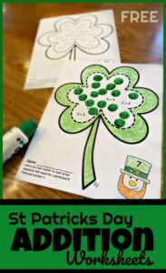 addition st patricks day worksheets