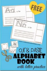 Cut and Paste Alphabet Book with tracing lines