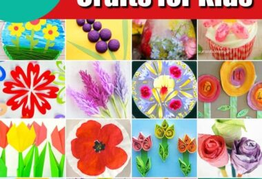 100 Flower Crafts from A to Z - looking for acute spring craft for kids? You will love all these different flower ideas for kids to make. Perfect for toddler, preschool, pre k, kindergarten, grade 1, grade 2, and grde 3.