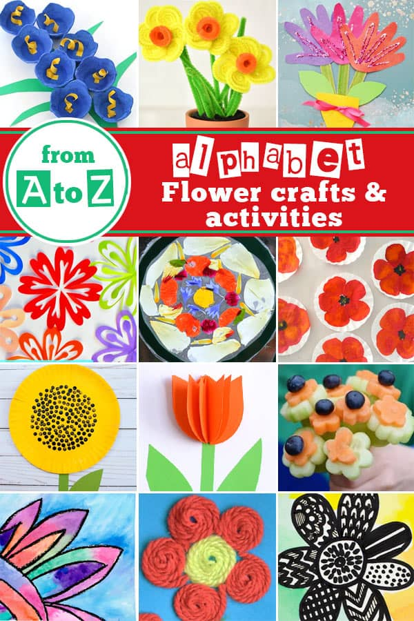 So many fun, clever flower crafts and activiites for kids of all ages from toddlers, preschoolers, kindergartners, first graders, 2nd graders and more! Perfect for using what you have at home to welcome spring #flowercrafts #springcrafts #craftsforkids #preschool #kindergarten