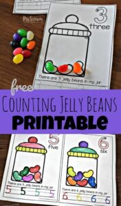 jelly bean counting worksheet