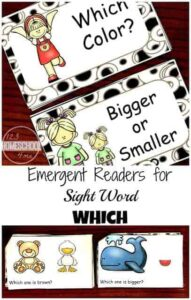 Kindergarten sight Words Reader - reading word which