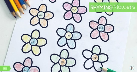 spring rhyming worksheets for kindergarten