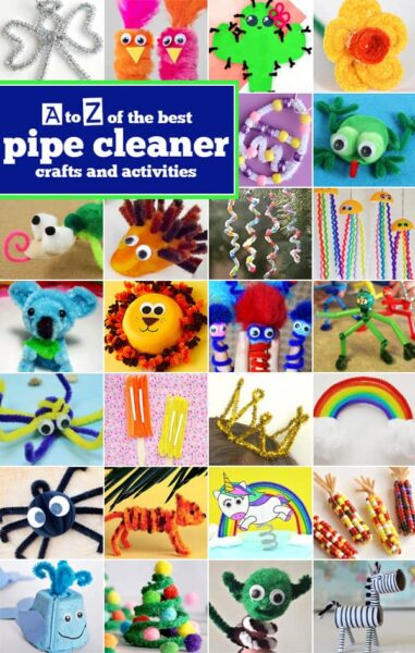 Children of all ages will have fun twisting chenille stems to make these creative Pipe Cleaners Crafts! We have a pipe cleaner craft ideas for everything from A to Z. Get ready for hours of fun for toddler, preschool, pre-k, kindergarten, first grade, 2nd grade, and 3rd grade students as you make these funcrafts with pipe cleaners. We have lots of cute pipe clearn animals like frogs, hedgehogs, koalas, whales, and more. Plus rainbows, Christmas trees, flowers, Easter eggs, and so much more. These are such fun, simple, and easy-to-makecrafts for preschoolers.The hardest part is deciding whichpipe cleaner craft ideas to try first!