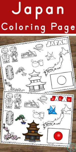 Children will have fun learning about Japan and its rich culture with these free printable Japan Coloring Pages for toddler, preschool, pre k, kindergarten, first grade, 2nd grade, 3rd grade, 4th grade, and 5th grade kids.