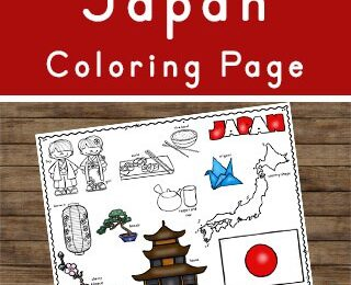 learn about Japan for Kids with these free printable coloring sheets