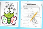 butterfly themed kindergarten math game