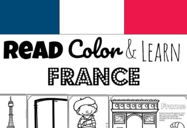 Children will have fun learning about France with this FREE Printable France Coloring Page for toddler, preschool, pre k, kindergarten, first grade, 2nd grade, 3rd grade, 4th grade, and 5th grade kids.