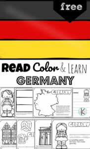 Children will have fun learning about Germany and its culture with this FREE Printable Germany Coloring Page for preschool, pre k, kindergarten, first grade, 2nd grade, 3rd grade, 4th grade, and 5th grade kids.