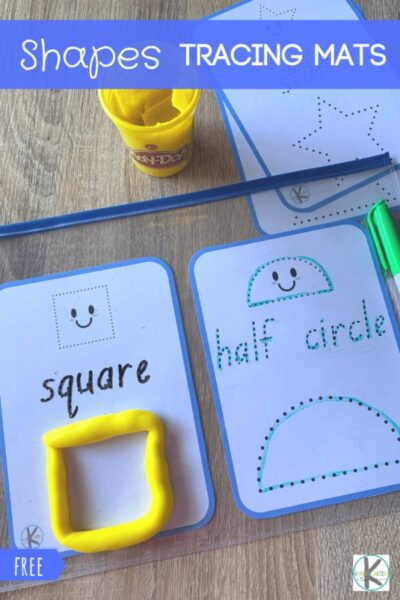 Make learning shapes fun with these free printableShape Tracing Printables for toddler, preschool, pre k, and kindergarten age students. These can be used with dry erase markers or playdough.