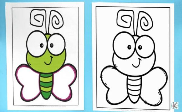 addition and subtraction activity in black and white or color for kindergartners