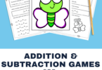 Looking for some fun ways to help students practice addition and subtraction? Our FREE, butterfly themed addition and subtraction mats Kindergarten Game is super cute and filled with loads of hands-on practice for Kindergarteners.