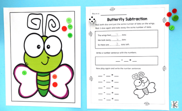 free kindergarten math perfect for spring or summer learning