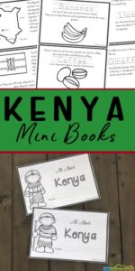 kenya for kids printable book