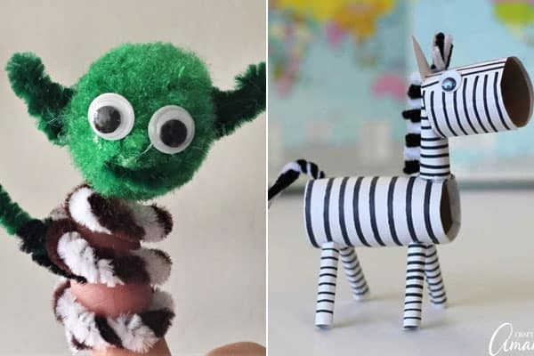 pipe cleaner crafts for kids making yoda, zebra, and more amazing creations and fun ideas