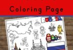 learn about russia for kids with these free printable Russia coloring sheets