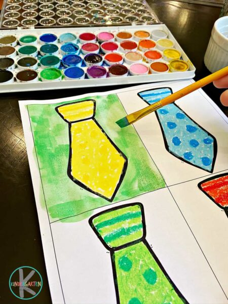 easy Fathers Day Art project for toddler, preschool, pre k, kindergarten, first grade, 2nd grade, and 3rd graders