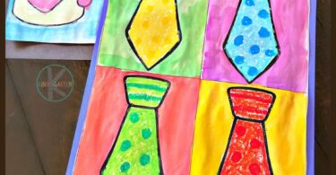 Kindergartners will have fun learning about famous artist Andy Warhol and his unique style of artwork with this fun to make, stunning, and EASYFathers Day Crafts for Kindergarten.