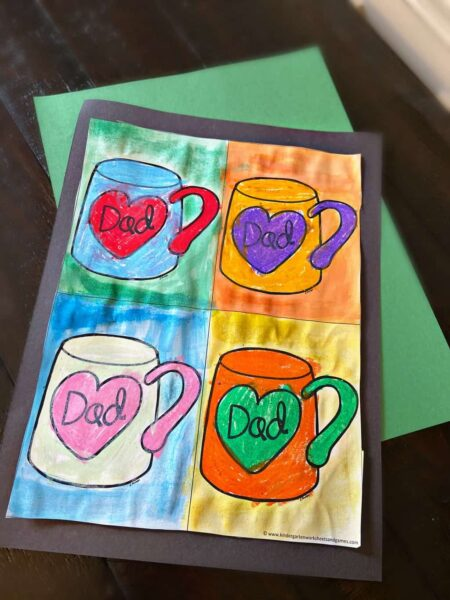 beautiful craft for kids to make as they celebrate Happy Fathers Day
