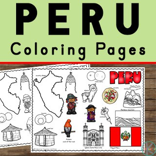 Read about Peru Information for Kids and grab these free peru printables to make learning fun