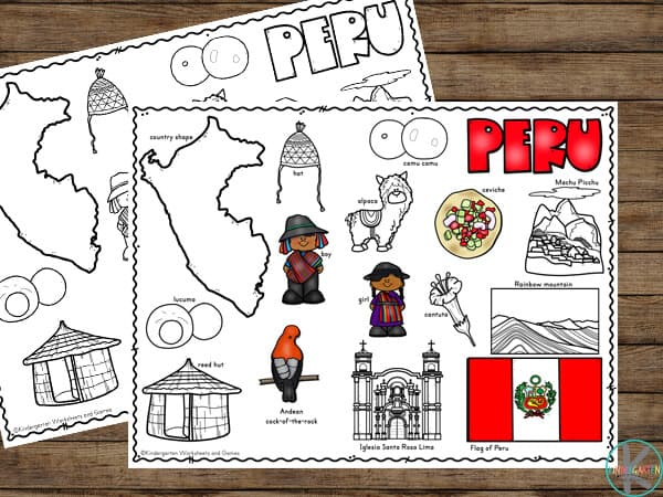 if you are interested in learning about the major sites, landmarks, and features of Peru for Kids, you will love these free printable coloring sheets