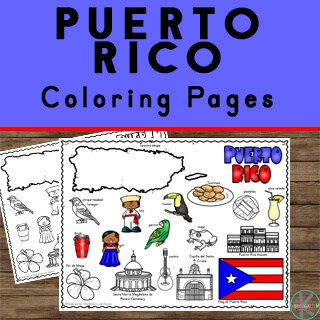 Printable Puerto Rico Information for children to study other countries in geography, history, united states, or children around the world
