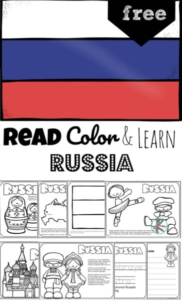 Take a peak at some traditional Russian things like St. Basil's Cathedral, red square, ballet, and borscht while learning about this fascinating country with these FREE printable Russia Coloring Pages for preschool, pre k, kindergarten, first grade, 2nd grade, 3rd grade, 4th grade, and 5th grade kids.