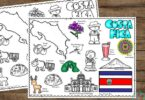 learn about costa rica for kids with this fun, hands on activity using coloring sheets for toddler, preschool, pre k, kindergarten, first grade students