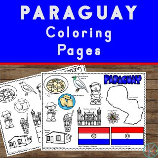 free country coloring pages to learn about Paraguay