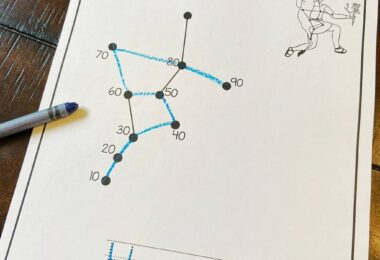 these free dot to dot printables are a fun way to learn constellation names for kids of all ages