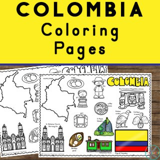 free printable colombia coloring sheets for preschoolers, kindergartners, first graders