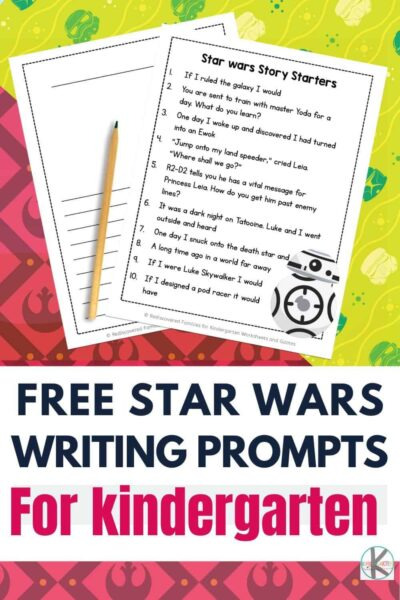 FREE Star Wars Writing Prompts For Kindergarten