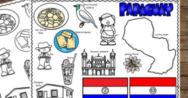 make learning about this south american country fun with these color and learn paraguay for kids