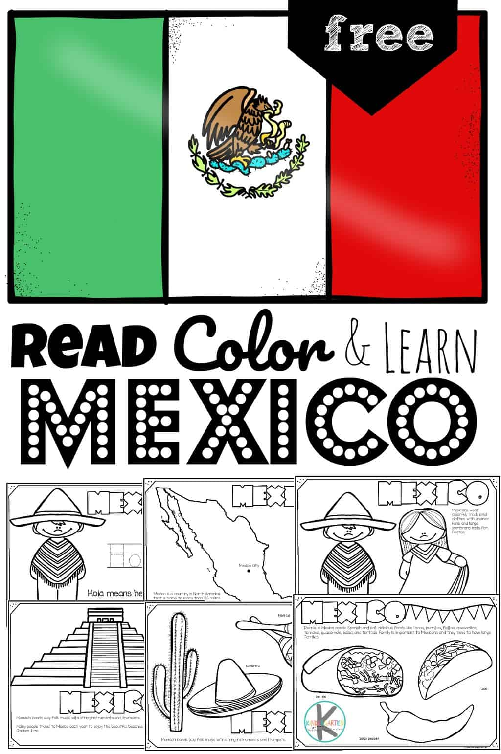 Free Mexico Coloring Pages Read Color And Learn